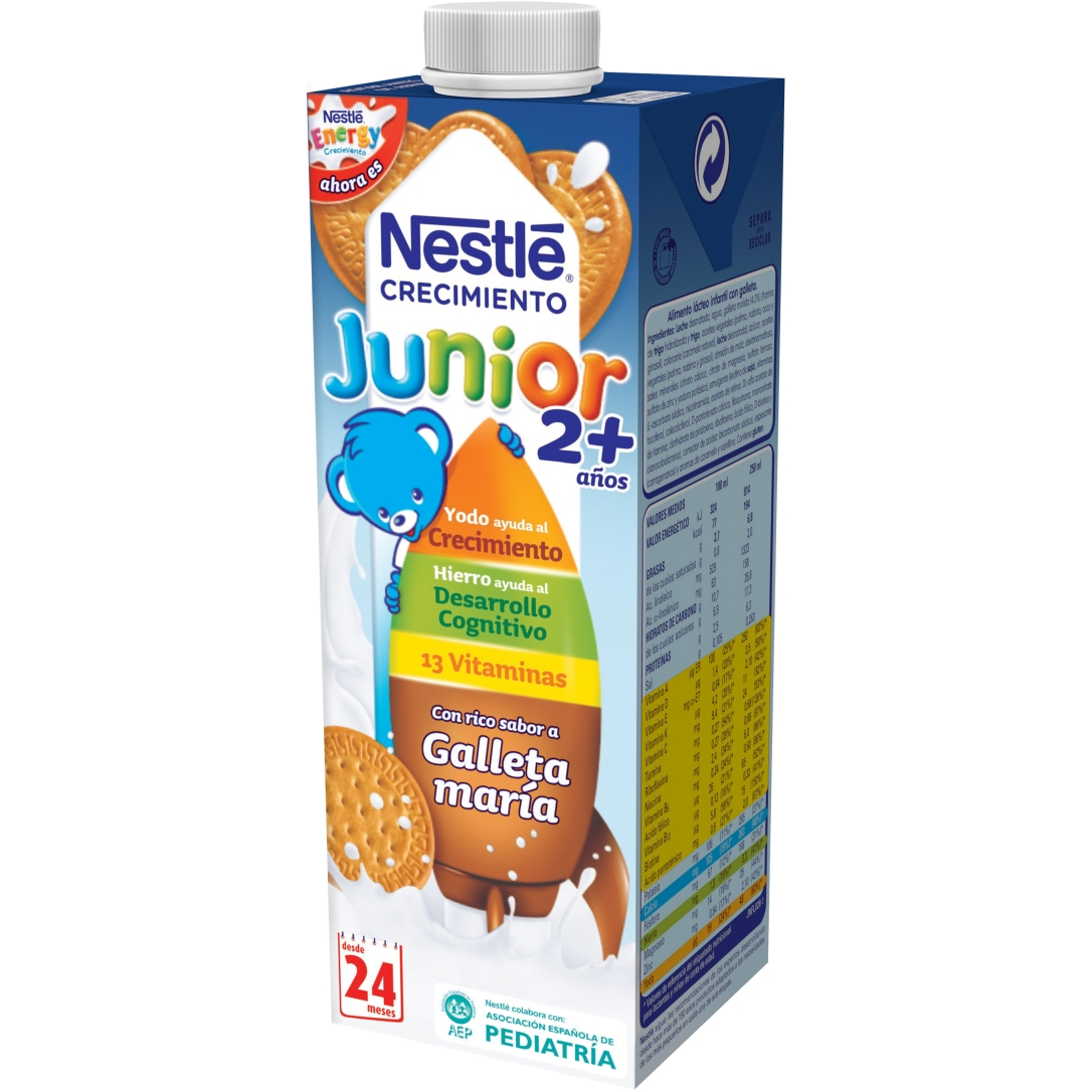 NESTLÉ JUNIOR 2+ GALLETA 1L